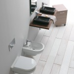 Lavabo Small, sanitari Smart, carrello Linea