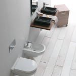 Sanitari Smart, lavabo Small, carrello Linea